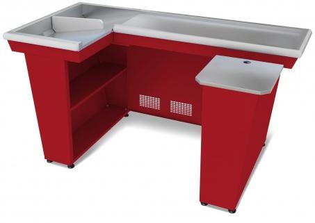 Кассовый бокс КБ-1,9-2Н двойной накопитель (красный)