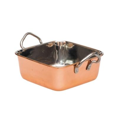 Сковорода порционная 14*14 см, нержавейка с медным напылением арт. 71002056
